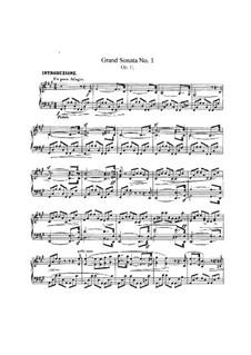 Sonate Nr.1 in fis-Moll, Op.11: Für Klavier by Robert Schumann