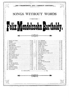 Lieder ohne Worte (Sammlung): Lieder ohne Worte (Sammlung) by Felix Mendelssohn-Bartholdy