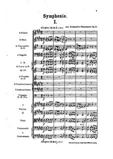 Simphonie Nr.1 in E-Dur, Op.5: Vollpartitur by Alexander Glazunov