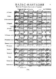 Walzer-Fantasie in h-Moll: For orchestra – full score by Michail Glinka
