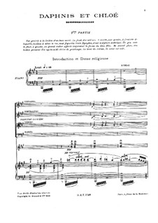 Daphnis und Chloe, M.57: For voices, choir and piano by Maurice Ravel