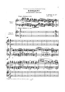 Konzert für Klavier und Orchester in a-Moll, Op.54: Version für zwei Klaviere, vierhändig by Robert Schumann