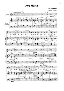 Ave Maria: Für Stimme und Klavier by Jakob Arcadelt