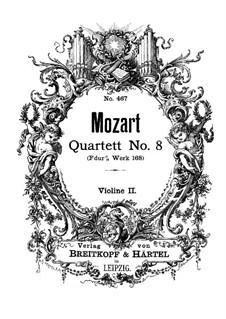 Streichquartett Nr.8 in F-Dur, K.168: Violinstimme II by Wolfgang Amadeus Mozart