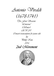 Violinkonzert Nr.4 in f-Moll 'Winter', RV 297: Teil II. Version für Klavier by Antonio Vivaldi