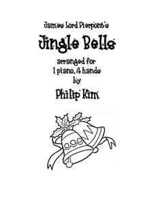 Jingle Bells, für Klavier: Version four hands by James Lord Pierpont