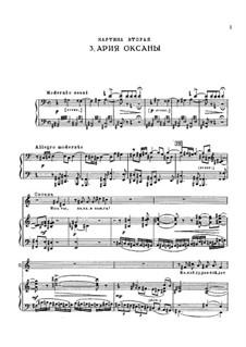 Die Pantöffelchen, TH 8: Aria of Oksana by Pjotr Tschaikowski