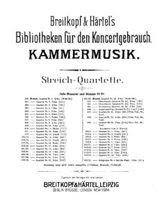 Streichquartett Nr.3 in G-Dur , K.156: Cellostimme by Wolfgang Amadeus Mozart