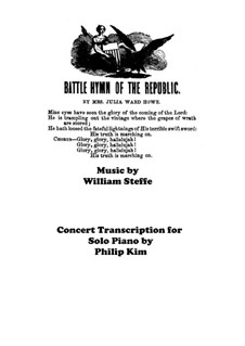 Battle Hymn of the Republic: Für Klavier by William Steffe