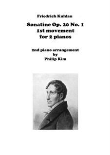 Drei Sonatinen für Klavier, Op.20: Sonatine No.1, Movement I for two pianos by Friedrich Kuhlau