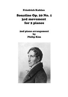 Drei Sonatinen für Klavier, Op.20: Sonatine No.1, Movement III for two pianos by Friedrich Kuhlau