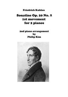 Drei Sonatinen für Klavier, Op.20: Sonatine No.2, Movements I for two pianos by Friedrich Kuhlau