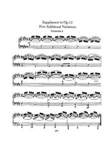 Sinfonische Etüden, Op.13: Supplement by Robert Schumann