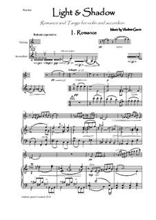 Light and Shadow - Romance und Tango für Violine und Akkordeon: Light and Shadow - Romance und Tango für Violine und Akkordeon by Vladimir Genin