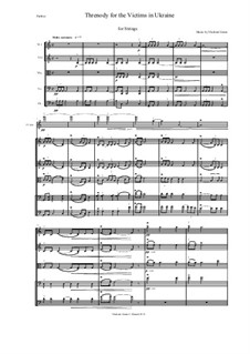 Threnody for the Victims in Ukraine: For string quintet or string orchestra by Vladimir Genin