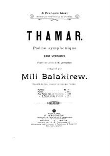 Tamara: Teil I, für zwei Klaviere, vierhändig by Mily Balakirev