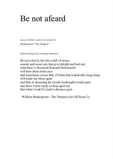 Be not afear'd: Für Klarinette und Gitarre by David W Solomons