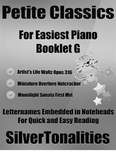 Petite Classics for Easiest Piano Booklet G: Petite Classics for Easiest Piano Booklet G by Johann Strauss (Sohn), Ludwig van Beethoven, Pjotr Tschaikowski