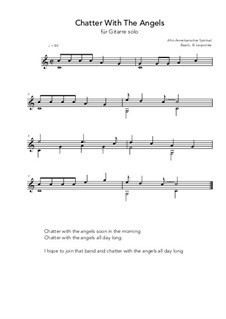 Chatter With The Angels: For guitar solo (C Major) by folklore