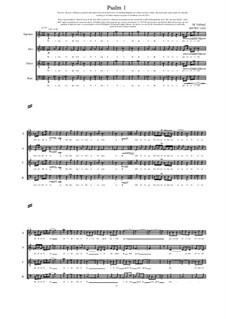 Psalm 1 for Choir (SATB), MVWV 1265: Psalm 1 for Choir (SATB) by Maurice Verheul