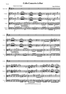 Concerto in A: For violoncello and strings - score and parts by Ignaz Holzbauer