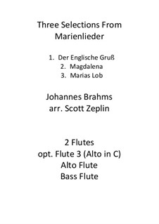 Marienlieder, Op.22: Three Selections by Johannes Brahms