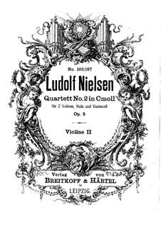Streichquartett Nr.2 in c-Moll, Op.5: Violinstimme II by Ludolf Nielsen