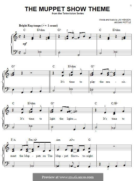 The Muppet Show Theme (Jim Henson): Für Klavier by Sam Pottle