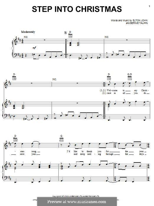 Step Into Christmas: Für Stimme und Klavier (oder Gitarre) by Elton John