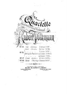 Streichquartett Nr.6 in Es-Dur, Op.43: Violinstimme I by Robert Volkmann