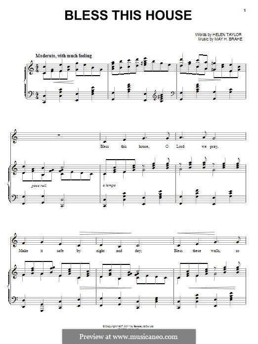 Bless This House: Für Stimme und Klavier by May H. Brahe