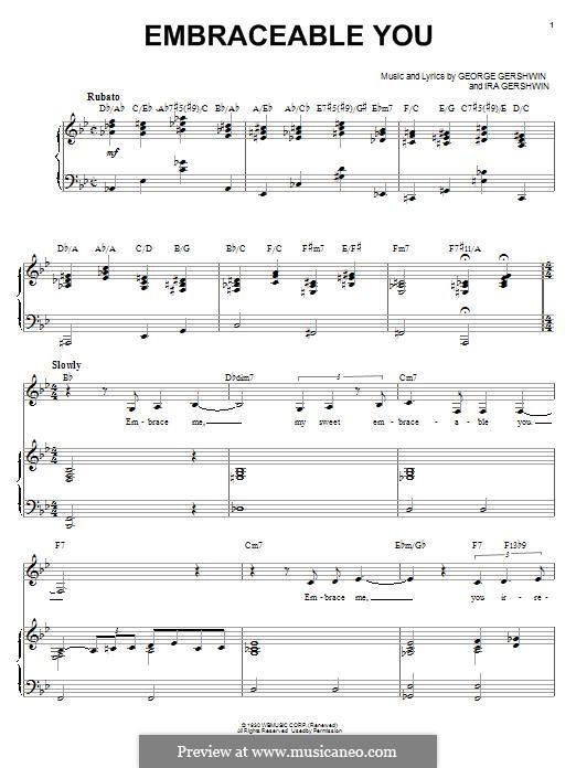 Embraceable You: Für Stimme und Klavier (Ella Fitzgerald) by George Gershwin