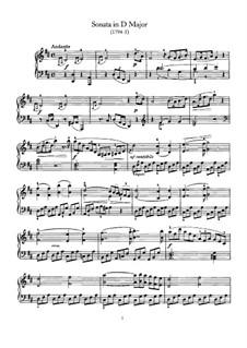 Sonate für Klavier Nr.61 in D-Dur, Hob.XVI/51: Für einen Interpreten by Joseph Haydn