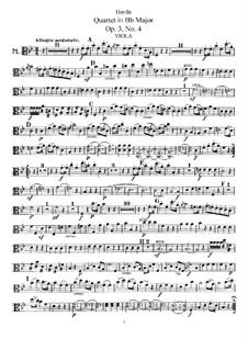 Streichquartett in B-Dur, Hob.III/16 Op.3 No.4: Bratschenstimme by Joseph Haydn