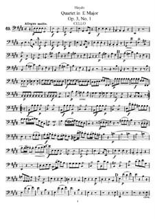 Streichquartett in E-Dur, Hob.III/13 Op.3 No.1: Cellostimme by Joseph Haydn