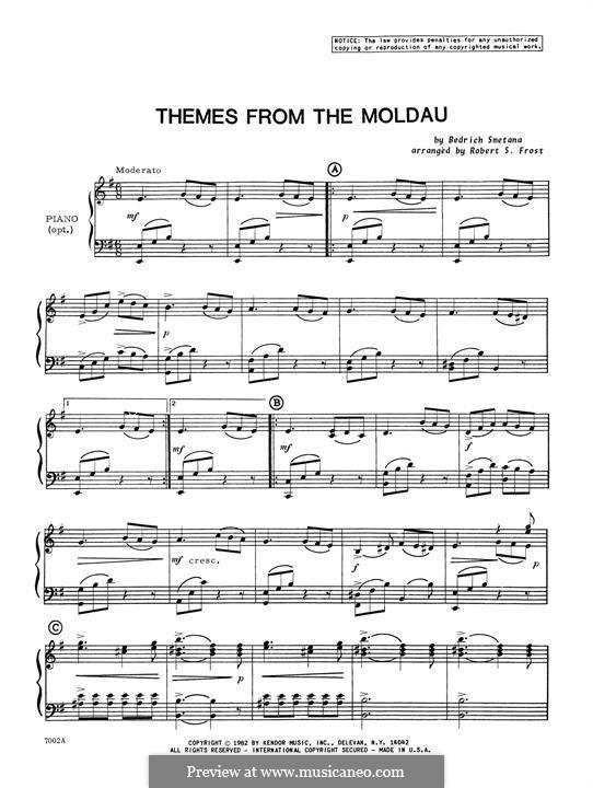 Vltava (Die Moldau), T.111: Themes, piano accompaniment by Bedřich Smetana