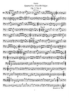 Streichquartett Nr.10 in B-Dur, Hob.III/12 Op.2 No.6: Cellostimme by Joseph Haydn