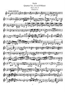 Streichquartett Nr.11 in d-Moll, Hob.III/22 Op.9 No.4: Violinstimme II by Joseph Haydn