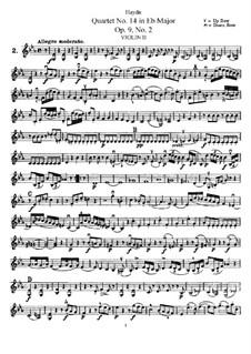 Streichquartett Nr.14 in Es-Dur, Hob.III/20 Op.9 No.2: Violinstimme II by Joseph Haydn