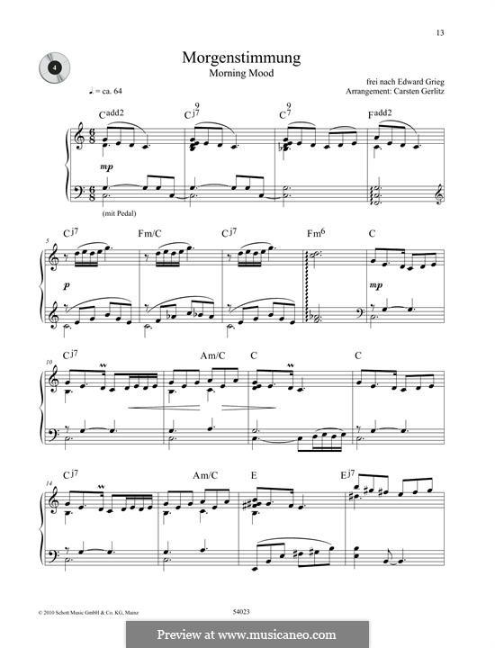 Suite Nr.1. Morgenstimmung, Op.46 No.1: Für Klavier by Edvard Grieg