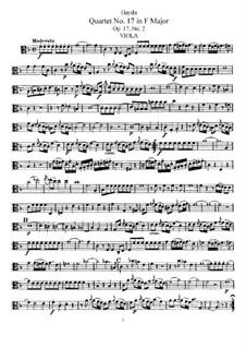 Streichquartett Nr.17 in F-Dur, Hob.III/26 Op.17 No.2: Bratschenstimme by Joseph Haydn