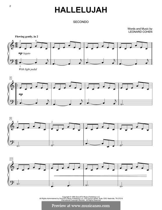 Piano version: Für einen Interpreten by Leonard Cohen