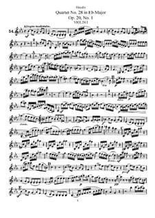 Streichquartett Nr.28 in Es-Dur, Hob.III/30 Op.20 No.1: Violinstimme I by Joseph Haydn