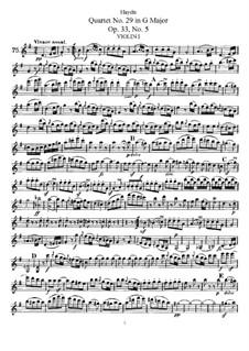 Streichquartett Nr.29 in C-Dur, Hob.III/41 Op.33 No.5: Violinstimme I by Joseph Haydn