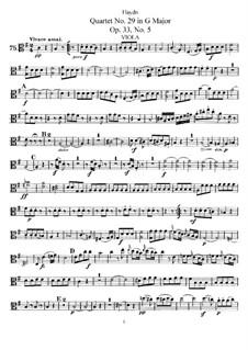 Streichquartett Nr.29 in C-Dur, Hob.III/41 Op.33 No.5: Bratschenstimme by Joseph Haydn