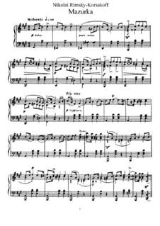 Zwei Stücke, Op.38: No.2 Mazurka by Nikolai Rimsky-Korsakov