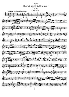 Streichquartett Nr.35 in d-Moll, Hob.III/43 Op.42: Violinstimme II by Joseph Haydn