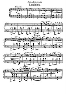 Sieben Nationaltänze, Op.82: No.1 Lezghinka by Anton Rubinstein