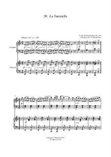 No.20 Le Tarantelle: Für zwei Klaviere, vierhändig by Johann Friedrich Burgmüller