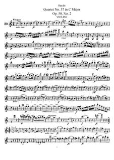Streichquartett Nr.37 in C-Dur, Hob.III/45 Op.50 No.2: Violinstimme I by Joseph Haydn